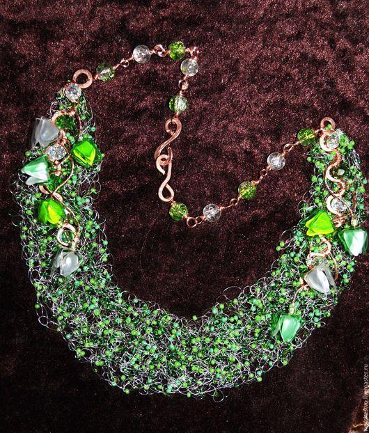 """Колье, бусы ручной работы. Ярмарка Мастеров - ручная работа. Купить Колье """"Лесная фея"""". Handmade. Зеленый, весна, ожерелье"""