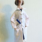"""Куклы и игрушки ручной работы. Ярмарка Мастеров - ручная работа Портретная кукла тильда """" Врач педиатр"""". Handmade."""