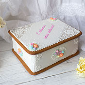 Сувениры и подарки handmade. Livemaster - original item Gingerbread box Tenderness. Handmade.