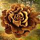 украшения из кожи брошь, роза цветок брошка. брошь заколка цветок, искусственные цветы роза, коричневая роза брошь, заколка брошь роза, песочный цвет заколка, брошь золотистый цвет замша,