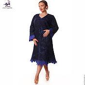 """Одежда ручной работы. Ярмарка Мастеров - ручная работа Платье ручной работы валяно-кружевное """"Синяя Птица"""" любой размер, цвет. Handmade."""