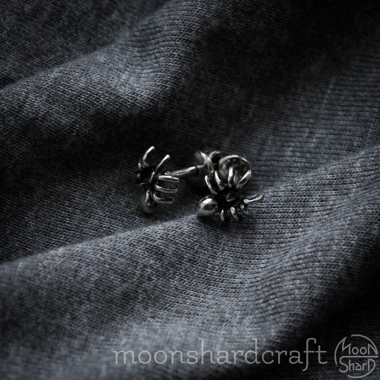 Silver earrings 'Spiders', Earrings, Alexandrov,  Фото №1