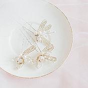 Свадебный салон ручной работы. Ярмарка Мастеров - ручная работа Шпилька с цветком. Handmade.