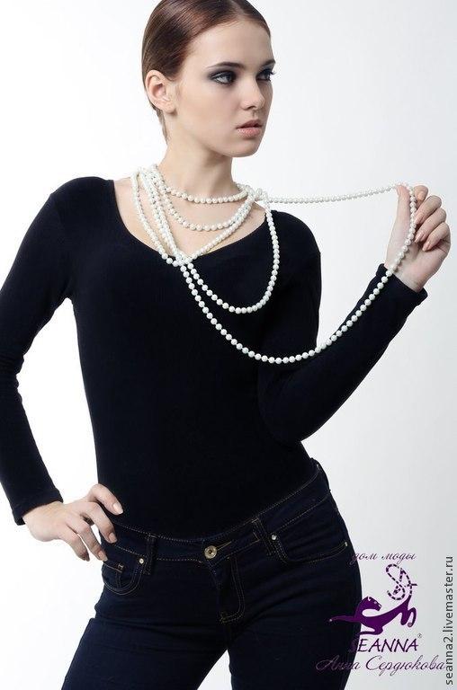 """Колье, бусы ручной работы. Ярмарка Мастеров - ручная работа. Купить Бусы """"В стиле Chanel"""" многорядные из искусственного жемчуга. Handmade."""