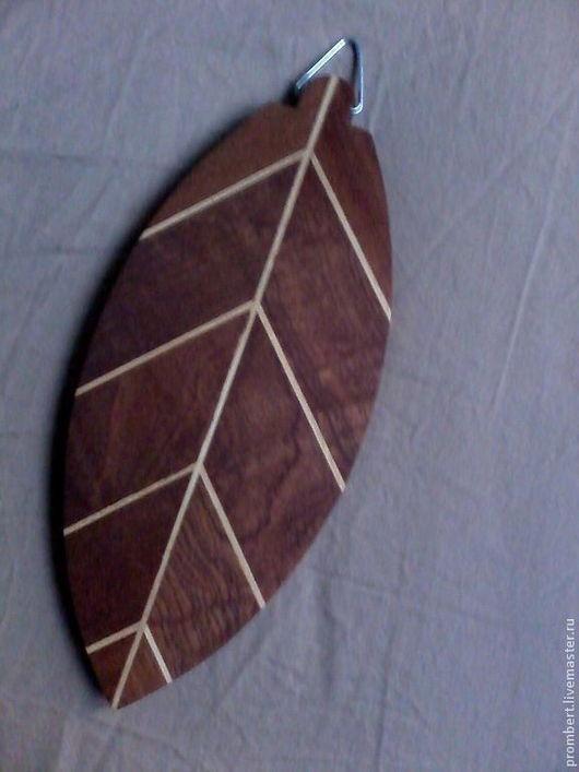 """Кухня ручной работы. Ярмарка Мастеров - ручная работа. Купить разделочная доска """"Фиговый листок"""". Handmade. Разделочная доска, коричневый"""