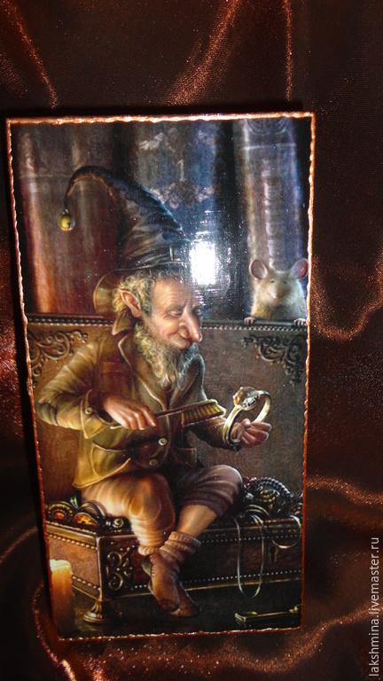 """Подарки для мужчин, ручной работы. Ярмарка Мастеров - ручная работа. Купить Купюрница """"Сокровища гнома"""".. Handmade. Коричневый, шкатулка для денег"""