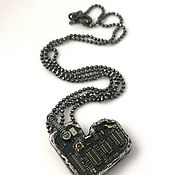 Украшения handmade. Livemaster - original item Pendant silver cyberpunk the Heart of the machine. Handmade.