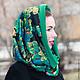 """Шапки ручной работы. Ярмарка Мастеров - ручная работа. Купить Снуд-шарф """"Малахит"""". Handmade. Разноцветный, снуд шарф хомут"""