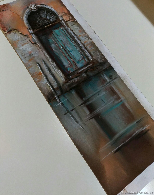 Картина пастелью Венецианская дверь(бирюзовый оранжевый серый) – заказать на Ярмарке Мастеров – IOQDDRU | Картины, Южноуральск