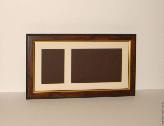Фоторамки ручной работы. Ярмарка Мастеров - ручная работа. Купить Рамка деревянная для оформления слепков.. Handmade. Коричневый, Рамки глубокие