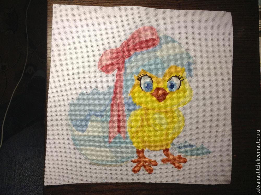 Вышивка цыпленок крестиком 17