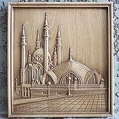 Картины и панно ручной работы. Ярмарка Мастеров - ручная работа Картина деревянная резная Мечеть Кул-Шариф. Handmade.
