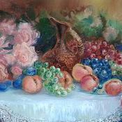 """Картины и панно ручной работы. Ярмарка Мастеров - ручная работа картина маслом""""Вкусный натюрморт"""". Handmade."""
