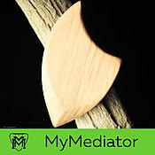 Музыкальные инструменты handmade. Livemaster - original item The mediator from the wood of hornbeam Wood Eclipse (bright). Handmade.
