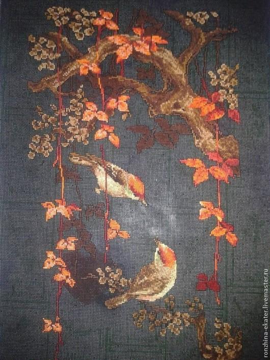 """Животные ручной работы. Ярмарка Мастеров - ручная работа. Купить """" Птицы"""". Handmade. Разноцветный, птицы на ветке, оранжевый цвет"""
