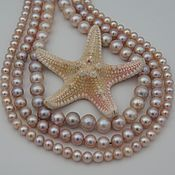 Материалы для творчества handmade. Livemaster - original item Natural lavender pearl loose beads AAA grade. Handmade.