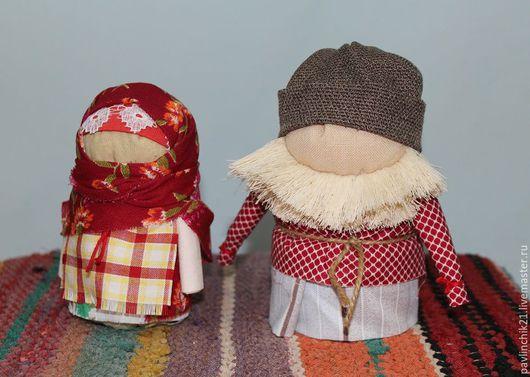 Народные куклы ручной работы. Ярмарка Мастеров - ручная работа. Купить Крупеничка и Богач. Handmade. Бордовый, кукла текстильная, богач