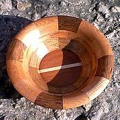 Для дома и интерьера ручной работы. Ярмарка Мастеров - ручная работа Тарелка деревянная декоративная. Handmade.