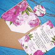 Свадебный салон ручной работы. Ярмарка Мастеров - ручная работа Свадебное приглашение в крафт конверте. Handmade.