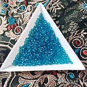 Материалы для творчества handmade. Livemaster - original item Beads faceted 2 mm color marine. Handmade.