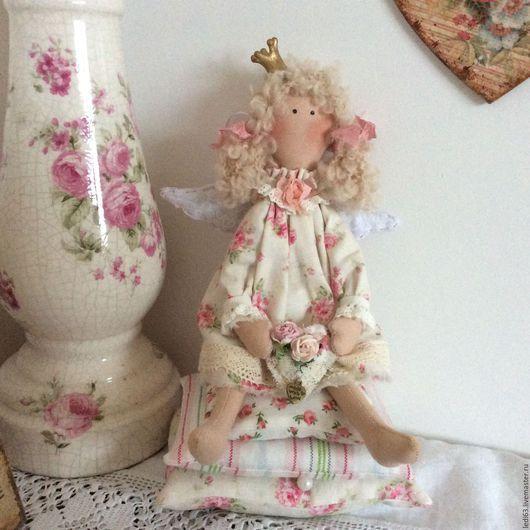 """Куклы Тильды ручной работы. Ярмарка Мастеров - ручная работа. Купить Принцесса на горошине в стиле"""" шебби"""". Handmade. Бледно-розовый"""