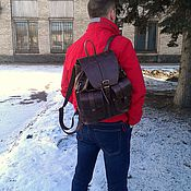 Сумки и аксессуары handmade. Livemaster - original item Backpack leather 401. Handmade.