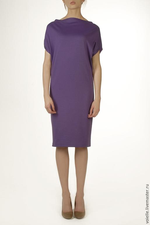 Платье трансформер `Ромб`, платье женское, платье MustHave платье из джерси вискоза хлопок, платье из вискозы платье сиреневое