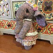 Куклы и игрушки ручной работы. Ярмарка Мастеров - ручная работа Тедди слоня Mariposa. Handmade.