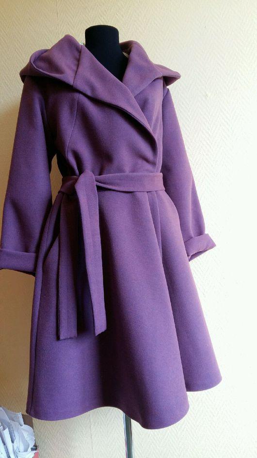 Верхняя одежда ручной работы. Ярмарка Мастеров - ручная работа. Купить Пальто на запах с капюшоном. Handmade. Пальто, запашное пальто