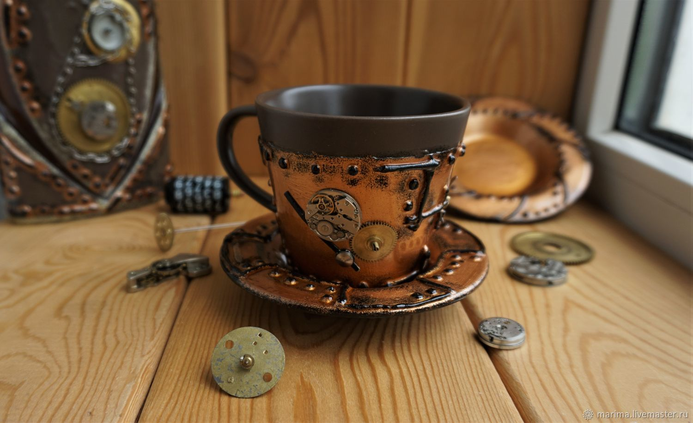 Mug in the style of steampunk (steampunk)2, Mugs and cups, Kamensk-Shahtinskij,  Фото №1