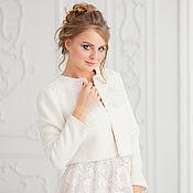 Свадебный салон handmade. Livemaster - original item Wedding coat, Bridal jacket, Bridal coat, Wedding jacket, Ludmila. Handmade.