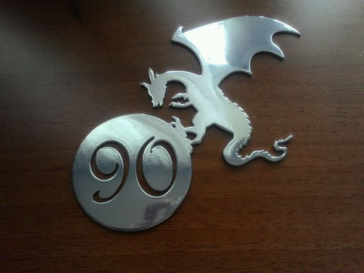 """Прихожая ручной работы. Ярмарка Мастеров - ручная работа. Купить Номер на входную дверь """"Дракон"""". Handmade. Номер дома"""