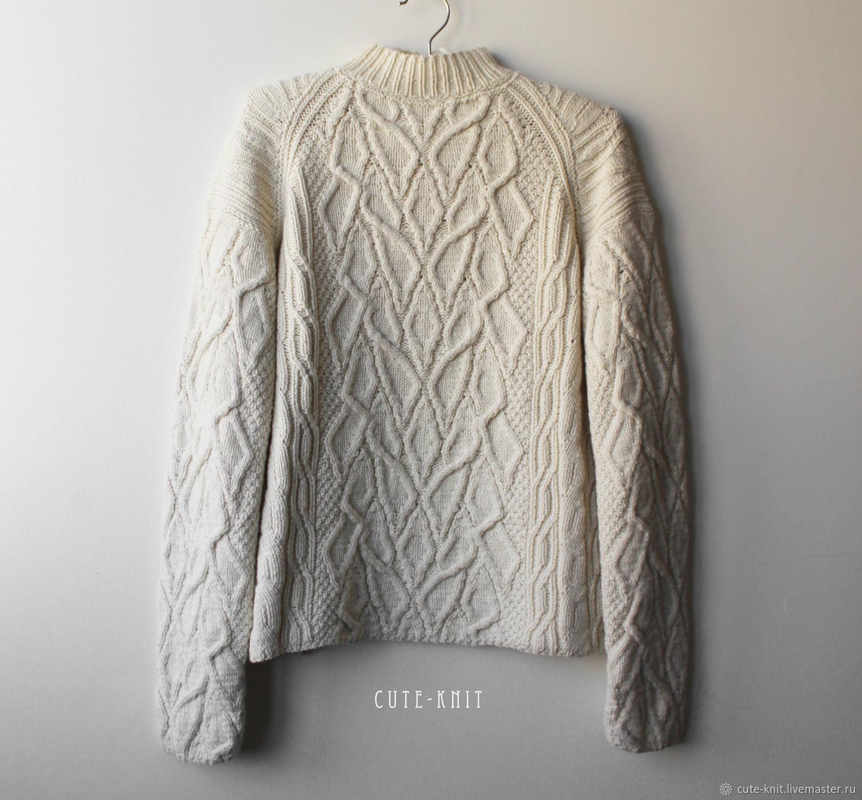 The dairy women's sweater with braids, Sweaters, Yerevan,  Фото №1