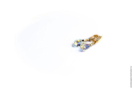 """Серьги ручной работы. Ярмарка Мастеров - ручная работа. Купить Серьги с кристаллами Сваровски """"Барокко"""". Handmade. Комбинированный"""