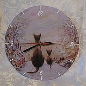 """Для дома и интерьера ручной работы. Ярмарка Мастеров - ручная работа Настенные часы """"Хранители-2"""". Handmade."""