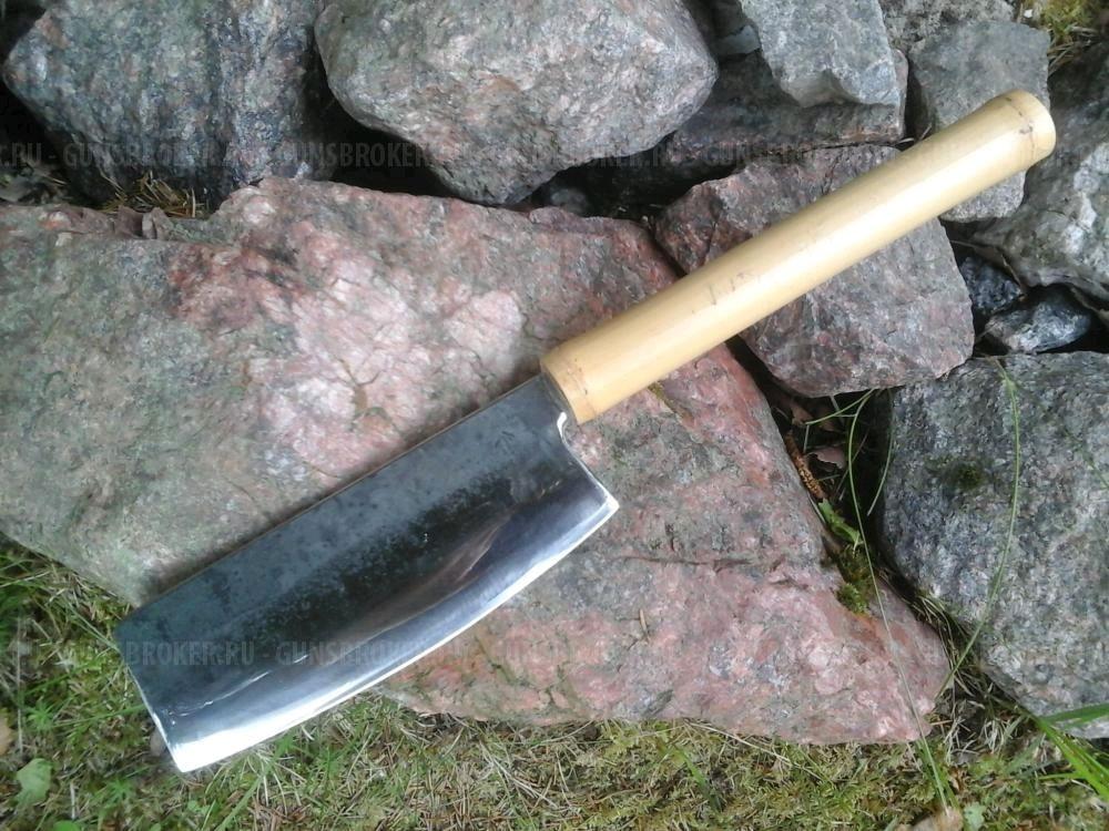 """Оружие ручной работы. Ярмарка Мастеров - ручная работа. Купить Тесак для мяса """"Чукабочо"""". Handmade. Ручная ковка, японский нож"""