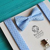 Аксессуары handmade. Livemaster - original item Blue tie Suspenders blue / Kit Noble. Handmade.