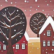"""Картины и панно ручной работы. Ярмарка Мастеров - ручная работа Картина """"Зима пришла"""". Handmade."""