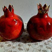 Для дома и интерьера ручной работы. Ярмарка Мастеров - ручная работа Гранат керамический. Handmade.
