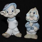 Винтаж handmade. Livemaster - original item Two charming figurines of gnomes, porcelain, Spain. Handmade.