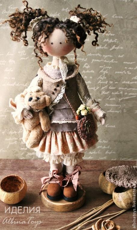 Коллекционные куклы ручной работы. Ярмарка Мастеров - ручная работа. Купить По мотивам Иделии.Текстильная кукла. Бохо стиль. Handmade.