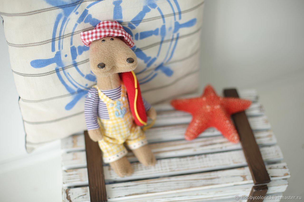Набор для шитья, Текстильная игрушка «Бегемотик Бамси», Арт. 005, Тильды, Москва, Фото №1
