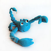 Куклы и игрушки handmade. Livemaster - original item Scorpio. Crochet toy on the frame.. Handmade.