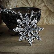 Украшения handmade. Livemaster - original item Chaos Star Pendant. Warhammer 40,000. brass silver. Handmade.