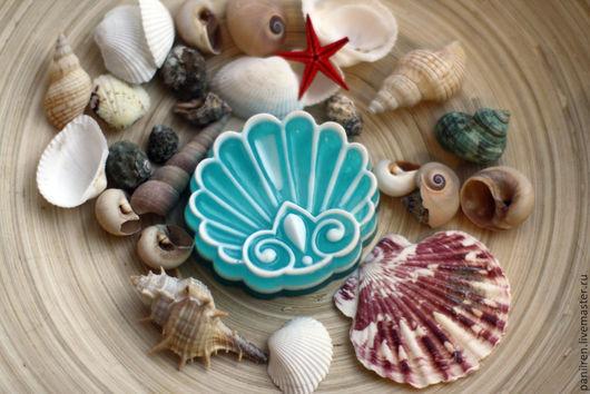 """Мыло ручной работы. Ярмарка Мастеров - ручная работа. Купить Мыло """"Ажурная раковина"""". Handmade. Морская волна, мыло сувенирное"""