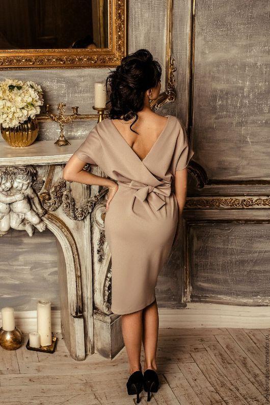 Платья ручной работы. Ярмарка Мастеров - ручная работа. Купить Платье из итальянского трикотажа,платье с открытой спиной. Handmade.