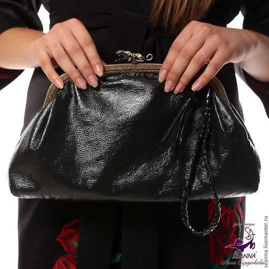"""Женские сумки ручной работы. Ярмарка Мастеров - ручная работа. Купить Эффектная сумка из лаковой натуральной кожи """"Ягуар"""". Handmade."""
