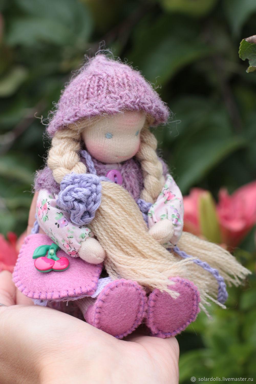 Вальдорфская игрушка ручной работы. Ярмарка Мастеров - ручная работа. Купить Вальдорфская кукла Виола 12 см. Handmade.