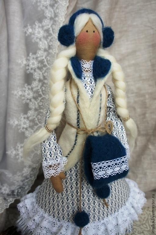 Коллекционные куклы ручной работы. Ярмарка Мастеров - ручная работа. Купить Интерьерная кукла Снегурочка. Handmade. Белый, Новый Год