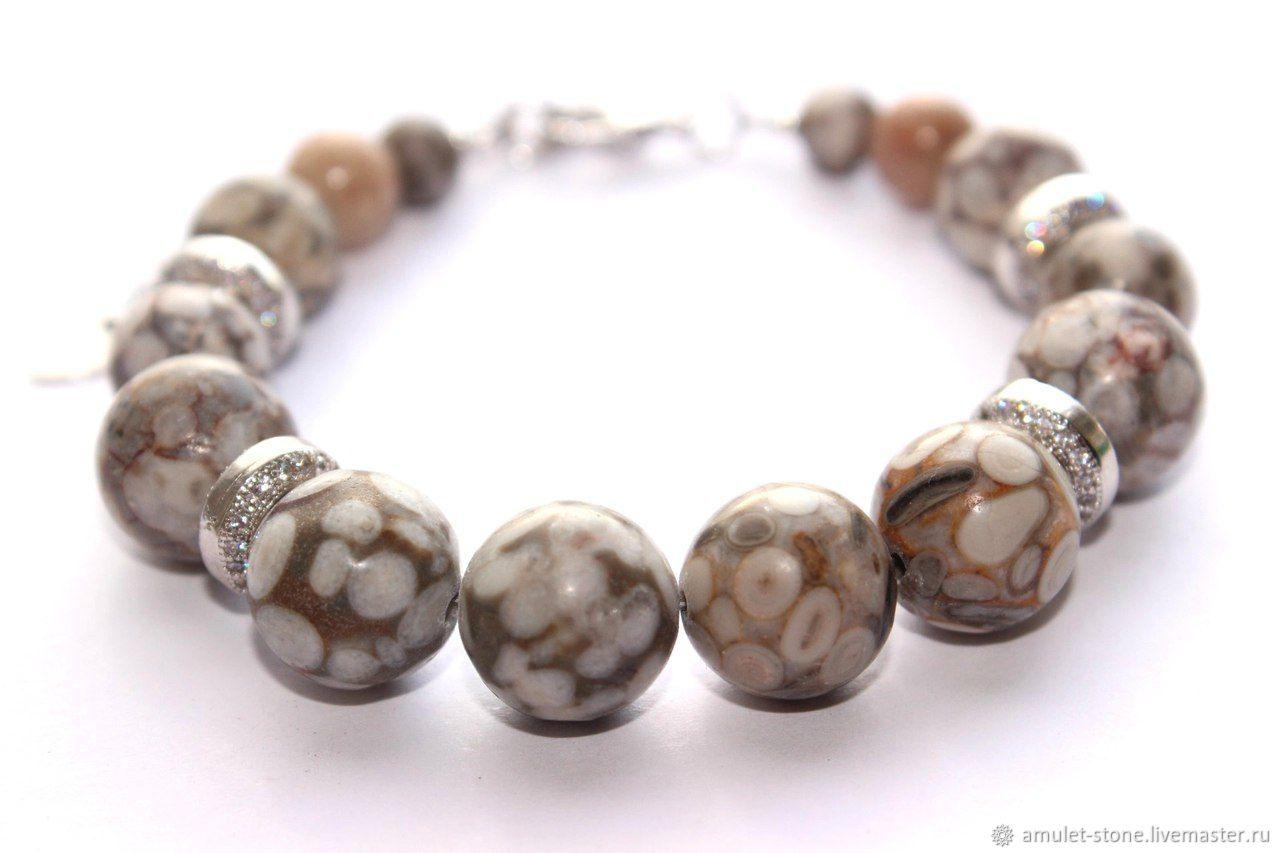 Браслет с яшмой Снимаем накопленный негатив, натуральные камни. Стильный браслет, натуральные камни, ручная работа, Ярмарка мастеров, Handmade. Купить авторские украшения магазина Amulet-Stone
